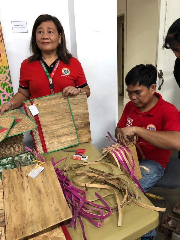 Native Handicrafts made from water lilies