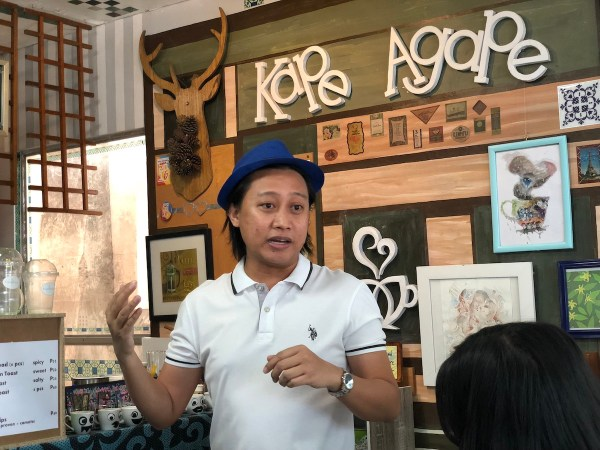 One of the owners of Kape Agape