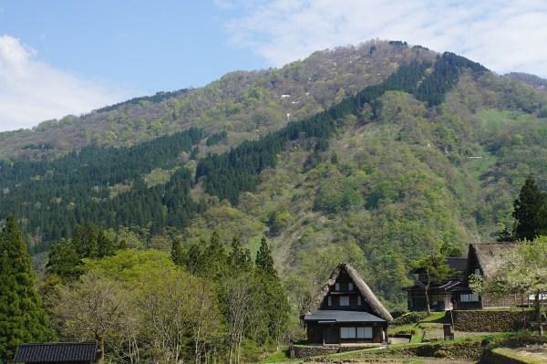 Spring in Shirakawa-go Gifu Japan