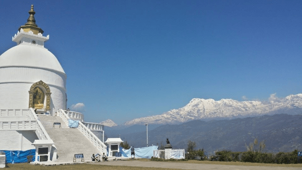 The Big White Stupa is a center of spirituality in Nepal.