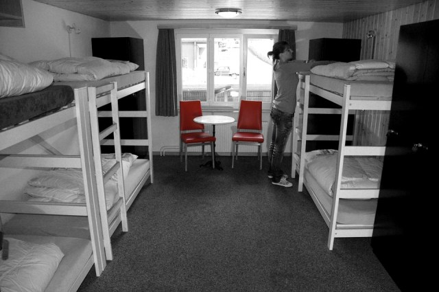 There are female, male, and mixed dorms available.