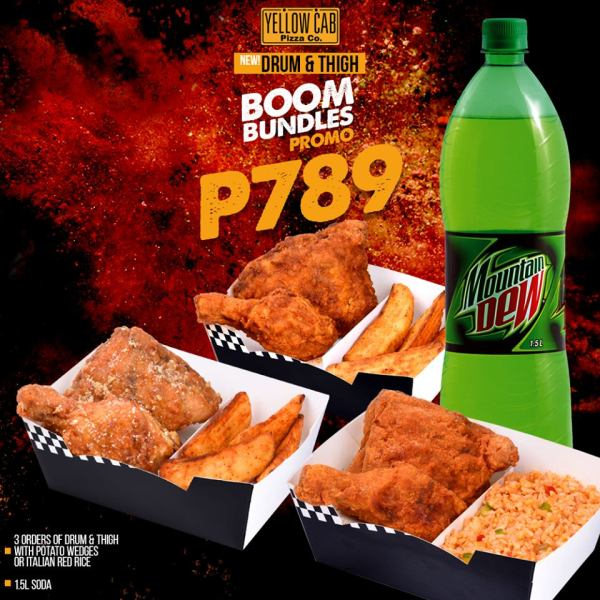 The Chicken Drum and Thigh Boom Bundle Promo. Image via Yellow Cab Pizza Co. Facebook Page.