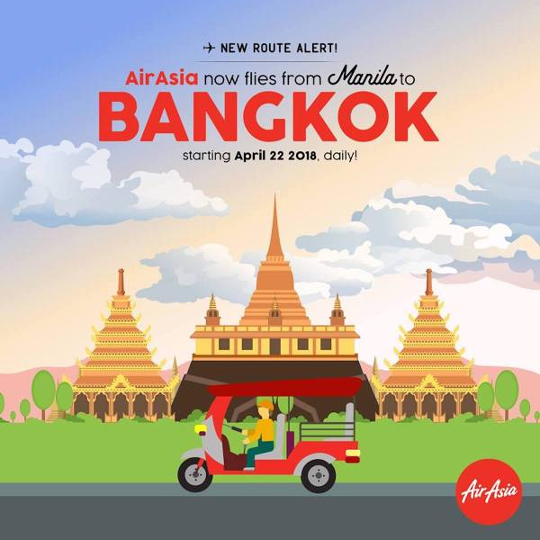 AirAsia Manila to Bangkok Direct Flights