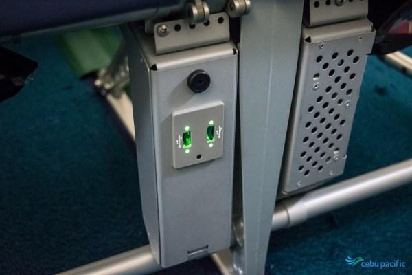 Cebu Pacific Aircraft USB Charging Ports