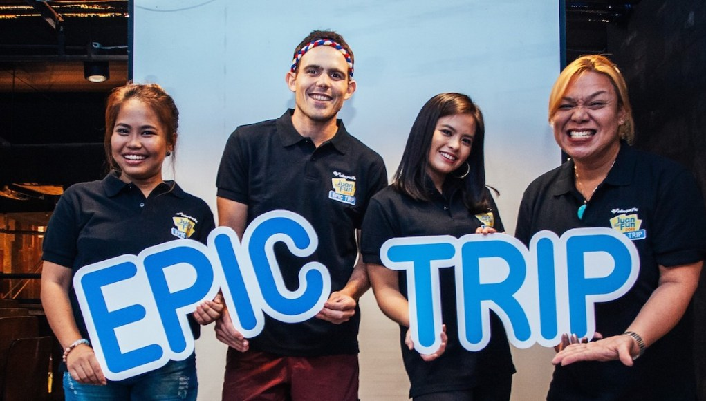 "Ready for an epic trip. Juan for Fun 2018 is sure to be an awesome adventure with coaches (from left) Baninay Bautista, Kyle ""Kulas"" Jennermann, Bea Binene, and Jude Bacalso. They will also be joined by Kimpoy Feliciano and Wil Dasovich."