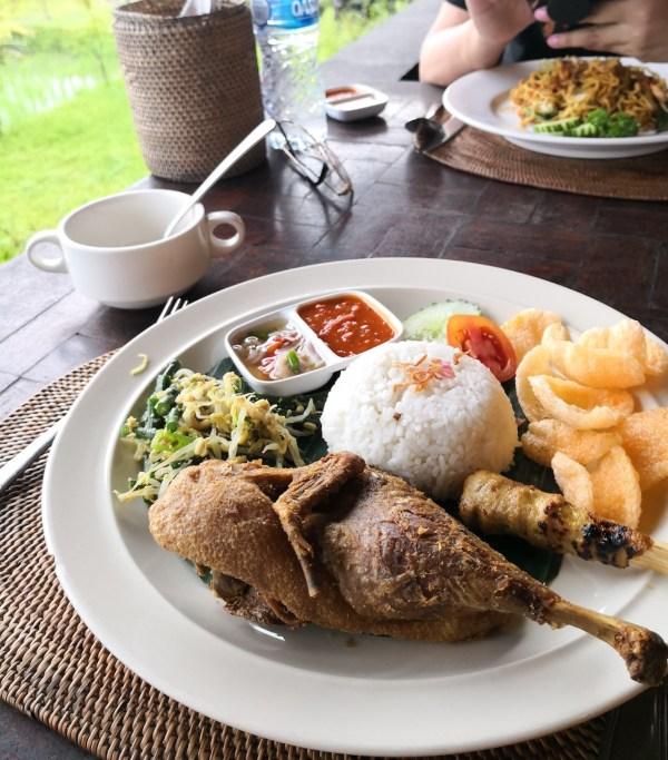 Nasi Campur Bebek at Joni Restaurant Ubud