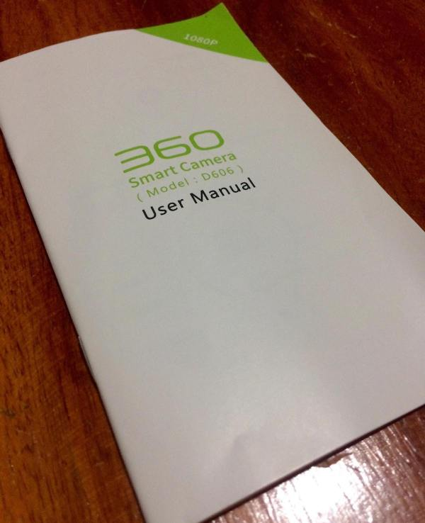 360 Smart Camera D606 User Manual