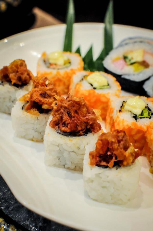 An assortment of rolled sushi from Kitsho's extensive selection. It's Mother's Day all May at Kitsho