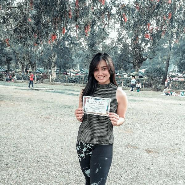 Certificate of Conquest for Katrina Alcantara