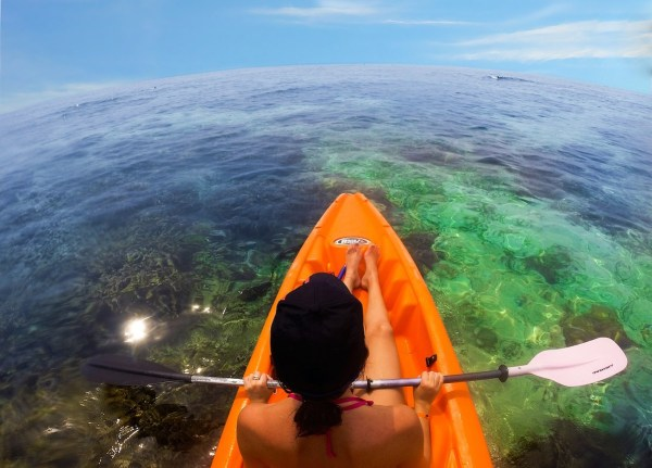 Kayaking in Honduras