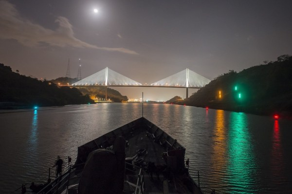 Panama Canal at Night