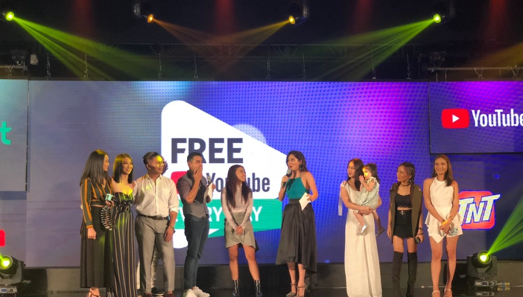 Pinoy Youtube Content Creators at the Launch of Free Youtube Everyday