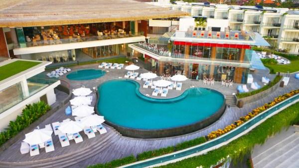 Sheraton Bali Aerial view Poolside