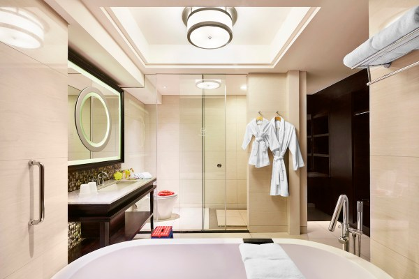 Sheraton Kuta Bali Bathroom with kids amenities