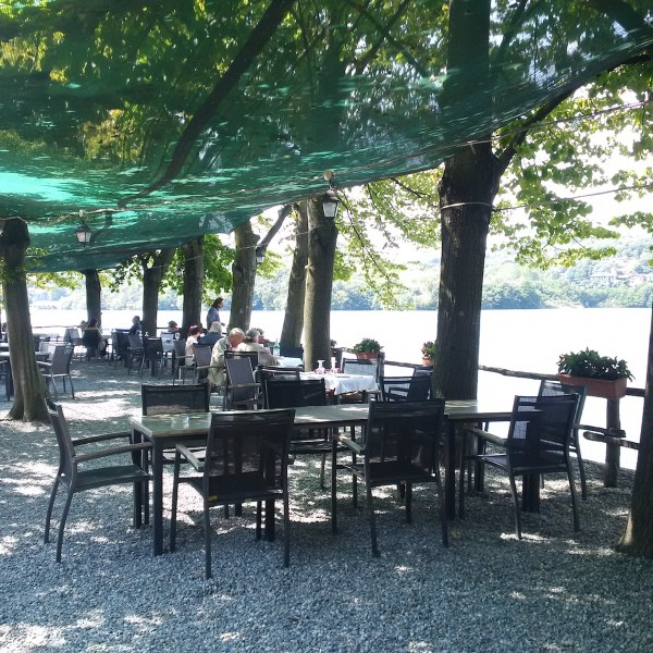 The romantic terrace of Il Cigno Restaurant