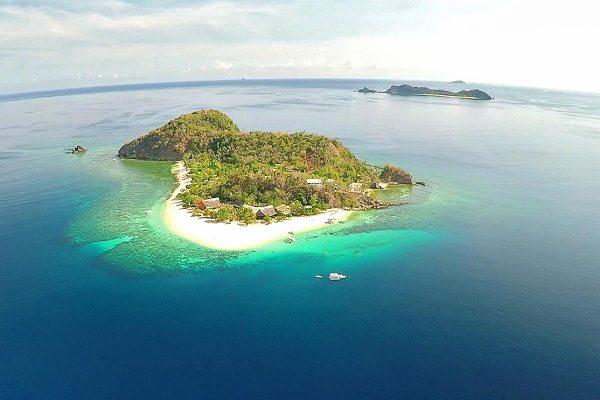 Aerial Shot of Club Paradise in Coron Palawan