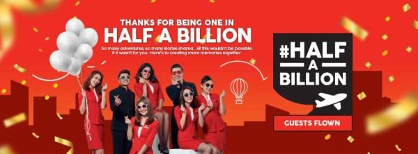 AirAsia #halfabillion Guests flown