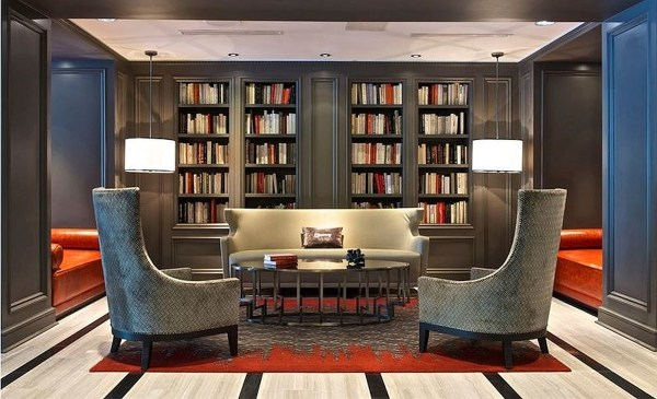 Comfy library in the lobby