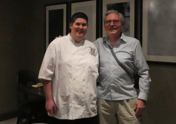 Executive Sous Chef Patrick Knott with the author