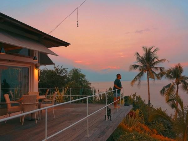 Sunset in Donatela Resort Bohol