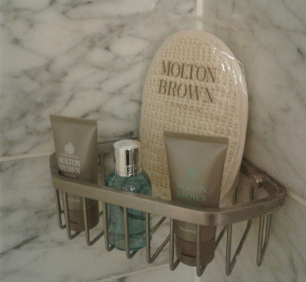 the luxurious pampering of Molton Brown bath essentials