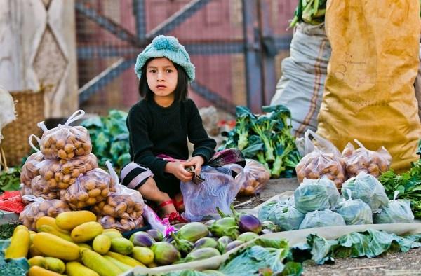 Burmese Kid at the Wet Market