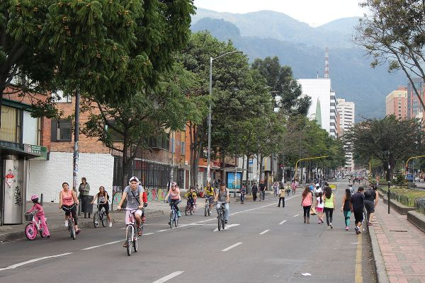 Ciclovia in Bogota photo via Wikipedia
