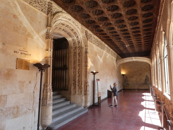 Entrance to Salamanca's 13th century library (no photos allowed inside)