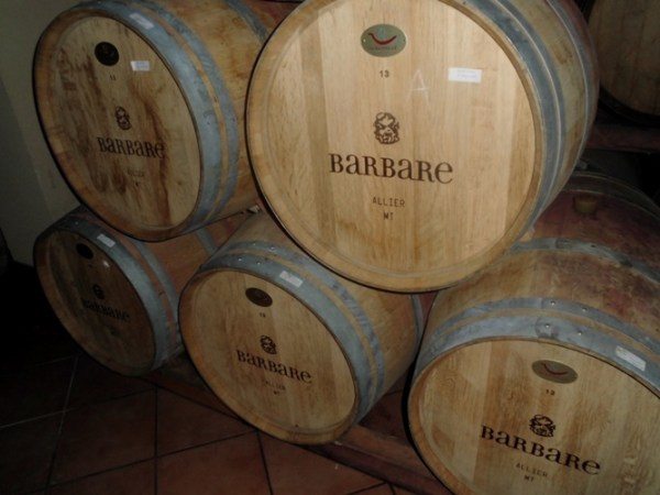 Barbare wine barrels