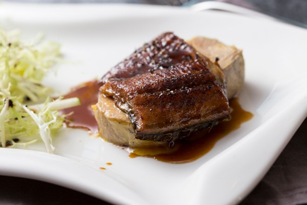 Caramelised Terrine Foie Gras with Stewed Eel with Oriental Spices