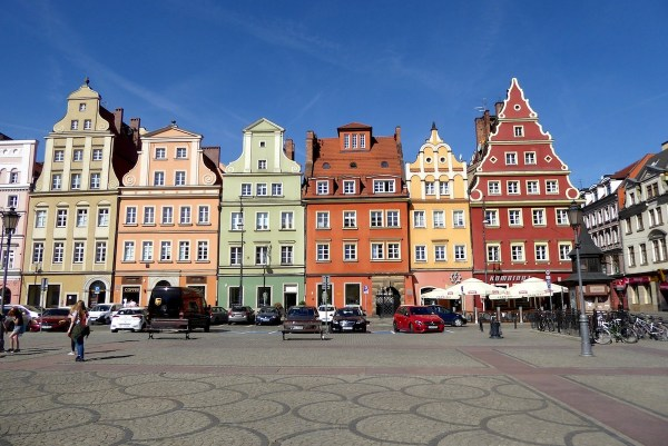 Colorful buildings in Rynek, Wroclaw
