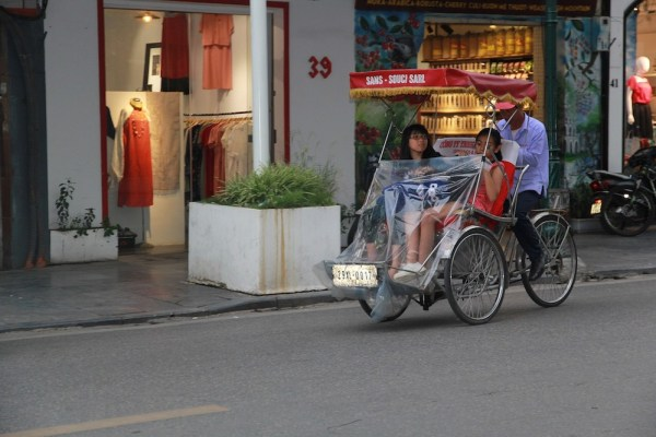 Cyclo transportation in Vietnam