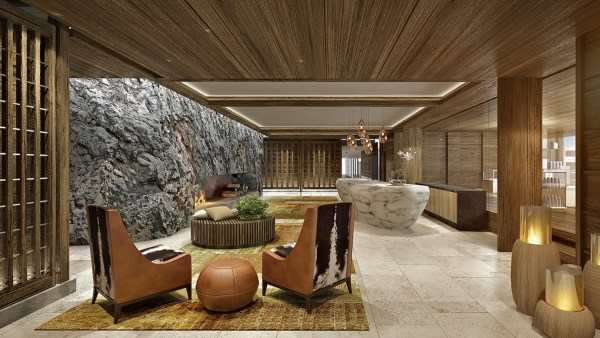 Lobby of Burgenstock Resort Lake Lucerne