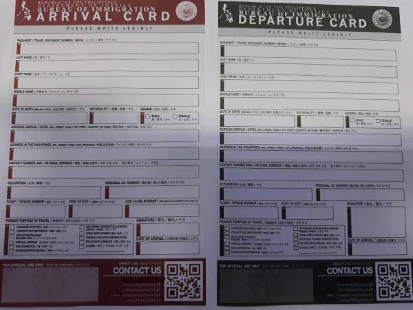 New Immigration Travel Cards photo via PNA