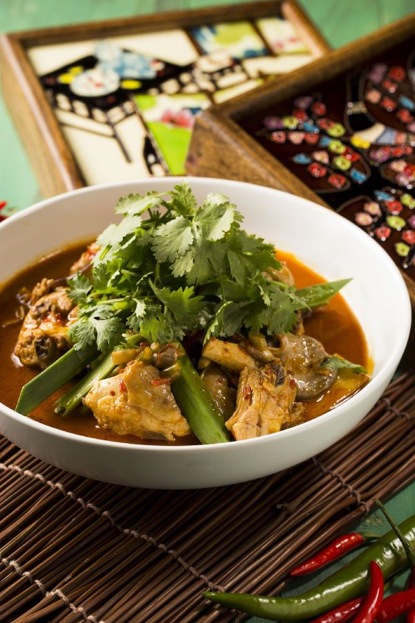 Spicy Chicken Stewed with Preserved Chili, Ginger and Garlic