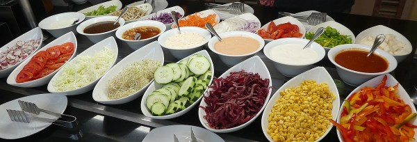 The salad bar toppings