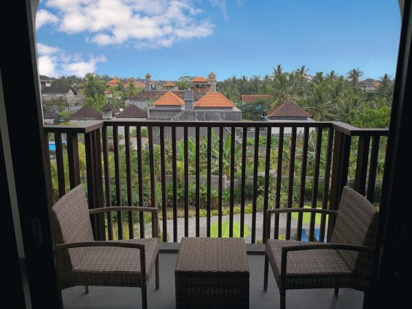 View from my balcony at Element Ubud