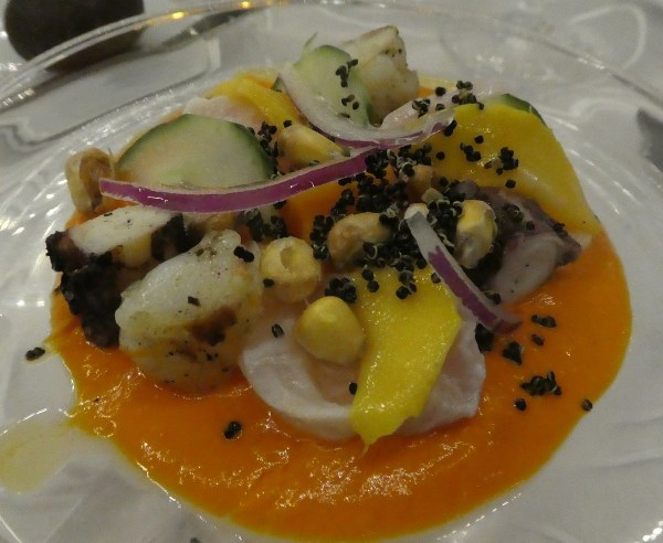the most sophisticated seafood course of the stay – I love octopus!