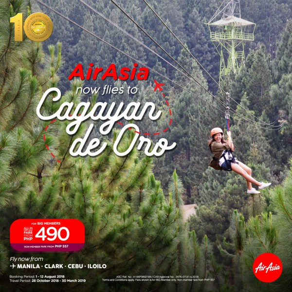 AirAsia Now Flies from Manila to Cagayan de Oro City