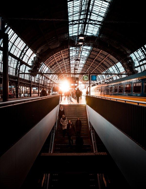 Amsterdam Centraal Station by Bruno Van Der Kraan via Unsplash