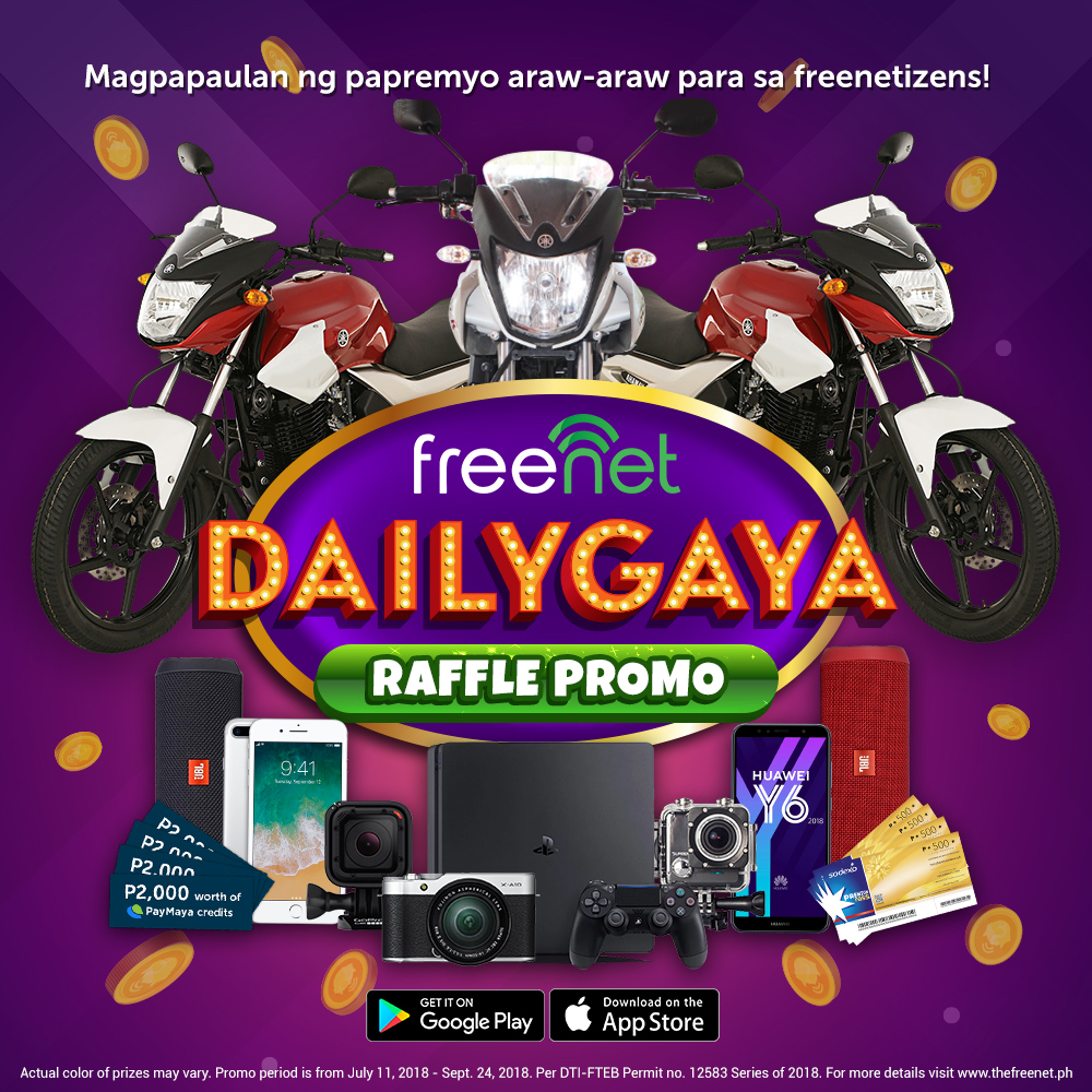 """Amazing Prizes and Rewards To Be Had with Freenet's """"Dailygaya"""