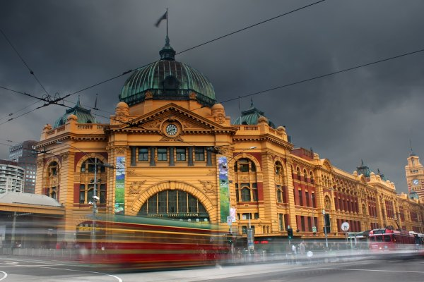 Flinders Street, Melbourne, Australia by Kieren Andrews via Unsplash
