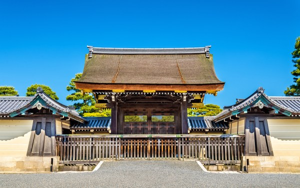 Gate of Kyoto-gosho Imperial Palace in Japan