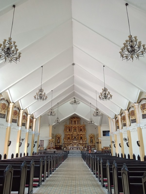 Inside Palo Cathedral in Leyte