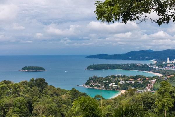 Kata Karon tropical beach viewpoint at Phuket island, Thailand