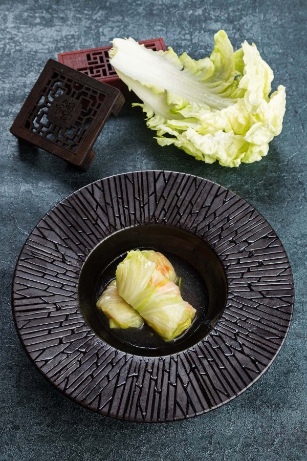 Steamed Cabbage Rolls stuffed with minced Pork and Shrimps