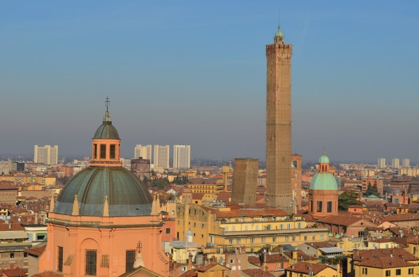 Bologna City view from San Petronio