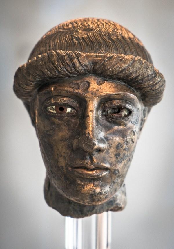 Bronze Head inside Acropolis museum