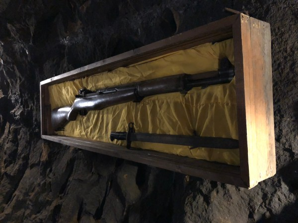 Japanese Weapons found inside the Tunnel