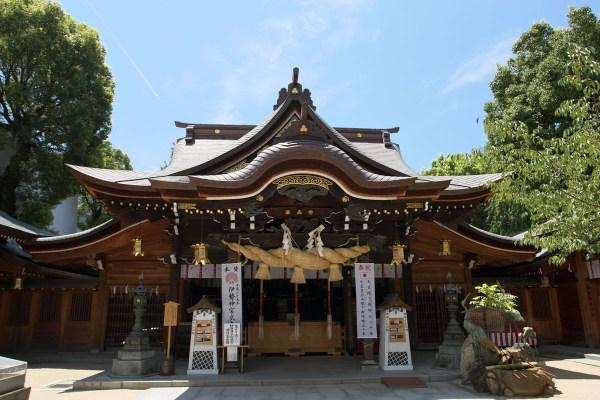 Kushida shrine in Hakata, Fukuoka city, Japan photo by Ponrafon via Wikipedia CC